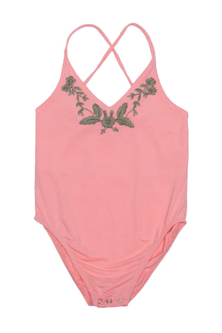 Honey Leotard Appricot with Hand Embroidery