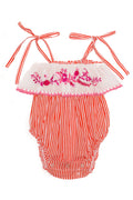 Innika Paprika Stripe with Hand Embroidery and Crochet