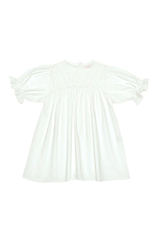 Lily Dress Gardenia and Lace Patchwork-Baby