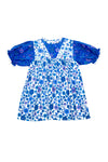 Lily Dress Blue Dahlia Patchwork