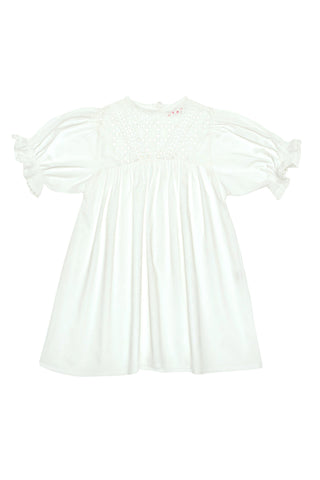 Juno Dress Gardenia w/ Broidery and Lace