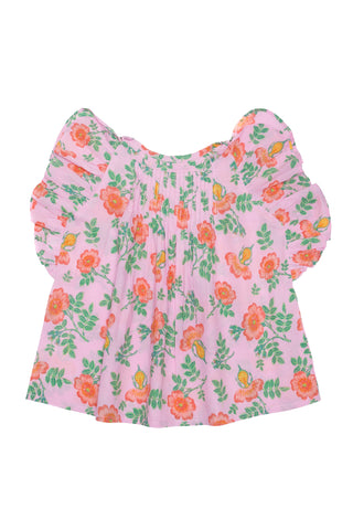 Claudette Crop Gardenia and Lace