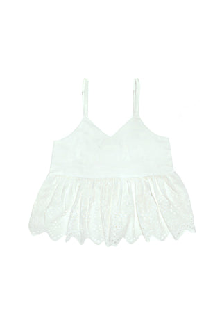 Sunshine Top Eggshell with Lace