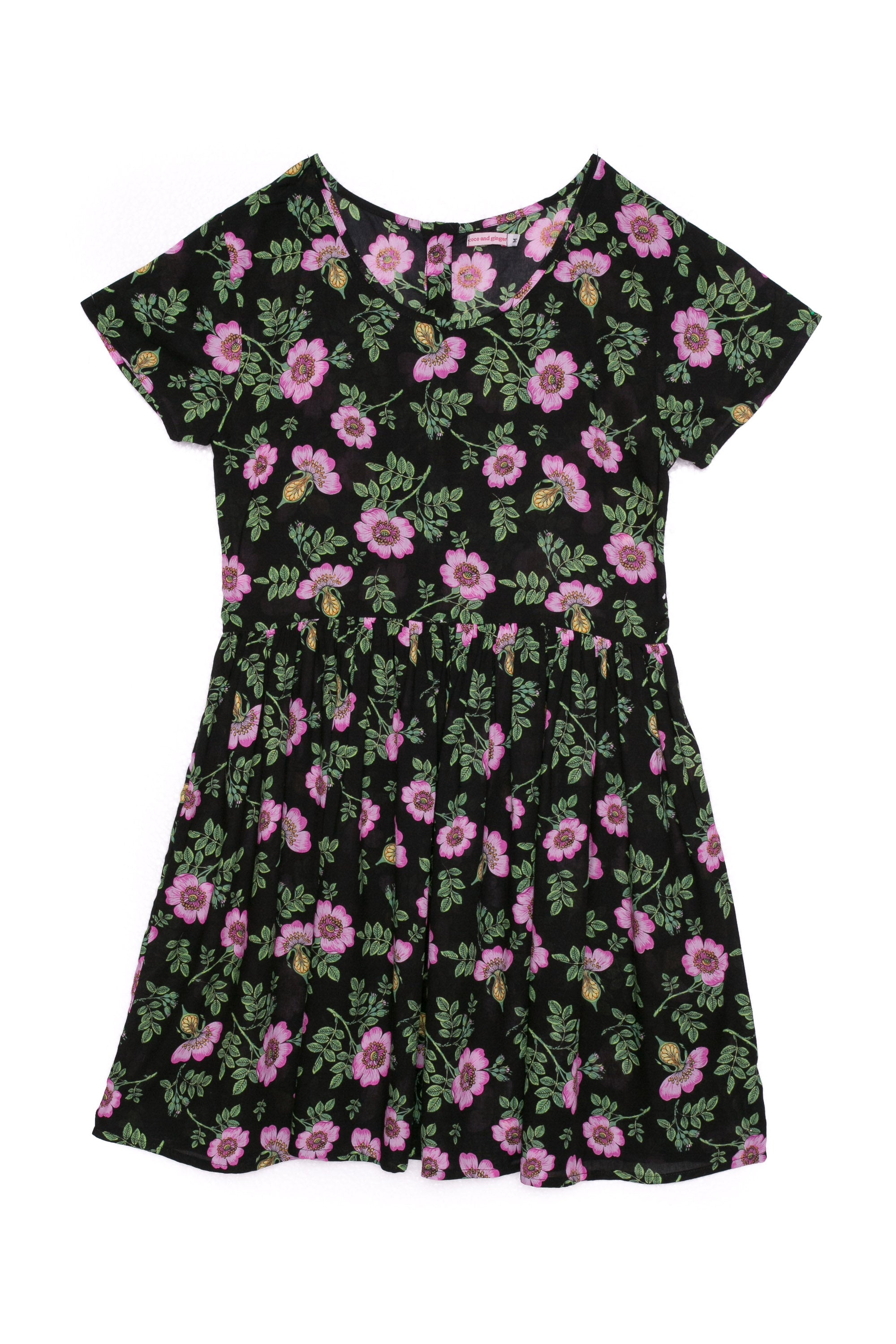 Sunday Dress Midnight Dogwood Rose (Tween/Teen)