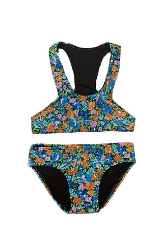 Bikini Set Saffron Indian Flowers