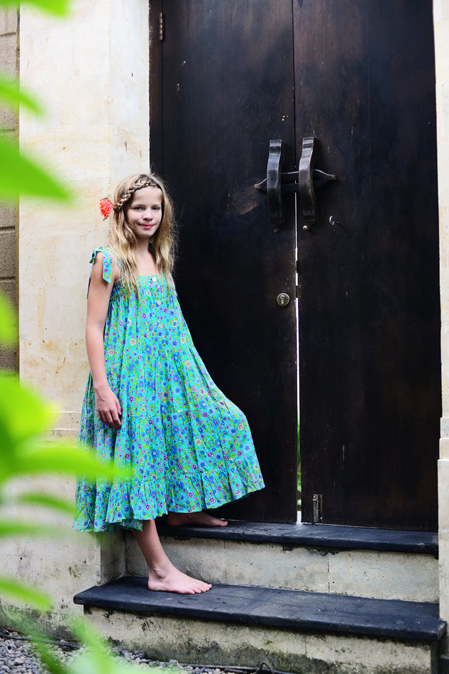 April Dress Emerald Dahlia (Tween/Teen)
