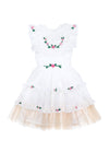 Bisou Dress Eggshell with Garland Hand Embroidery