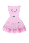 Bisou Dress Sorbet with Garland Hand Embroidery