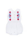 Cinnamon Sunsuit Eggshell with Hand Stitch
