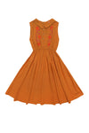 Cinnamon Dress Turmeric and Hand Stitch