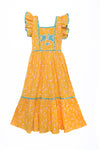 Lilas Dress Yellow Whisper with Applique