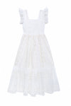 Lilas Dress Eggshell Cutwork with Lace