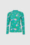 Mama- Rash Vest Top Jade Dogwood Rose