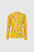 Mama- Rash Vest Top Yellow Dogwood Rose