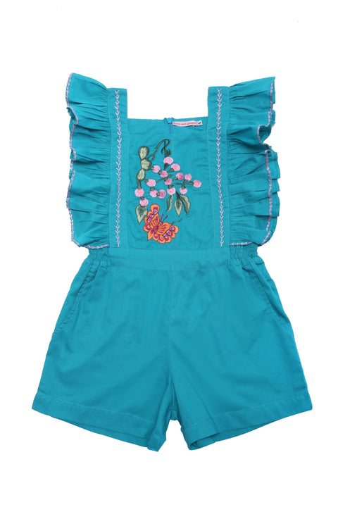 Tulip Playsuit Lapis with Embroidery