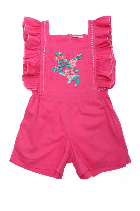 Tulip Playsuit Pink Ginger with Hand Stitch