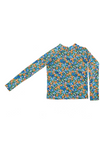 RashVest Top 70's Flower Blue
