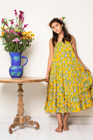 margaux dress saffron almond blossom (Teen)