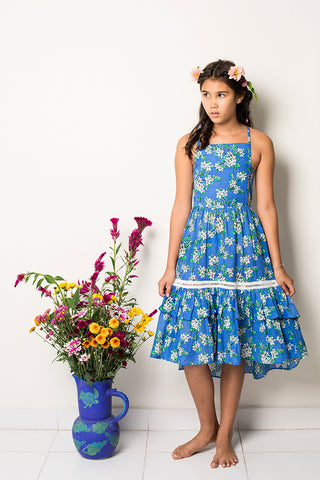 lilac dress periwinkle almond blossom (teen)