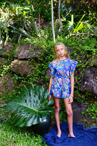 Delphine Playsuit Azure Fiore (Stealing Beauty)