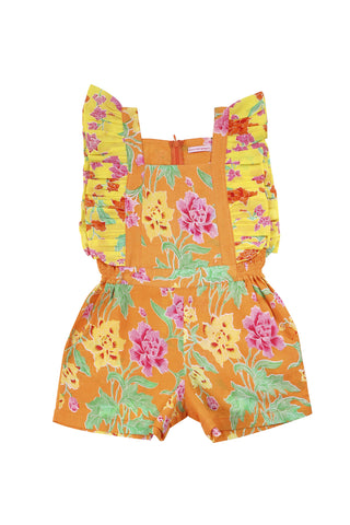 tulip playsuit batik saffron with yellow