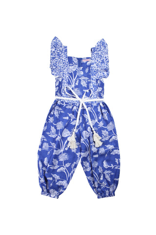 wilde jumpsuit botanical azure, teen