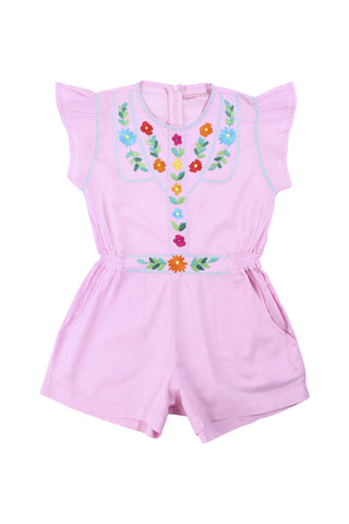isabel playsuit rose with hand stitch