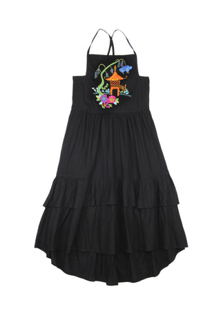 Lilac Dress Black w/ Hand Stitch (mama)