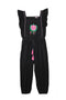 Wilde Jumpsuit Black w/ Rose Embroidery (mama)