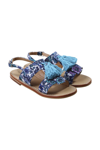 Canvas printed sandal