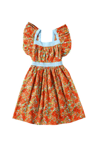 Inca Dress Mexican Flower Orange