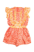 Peony Playsuit Orange and Yellow