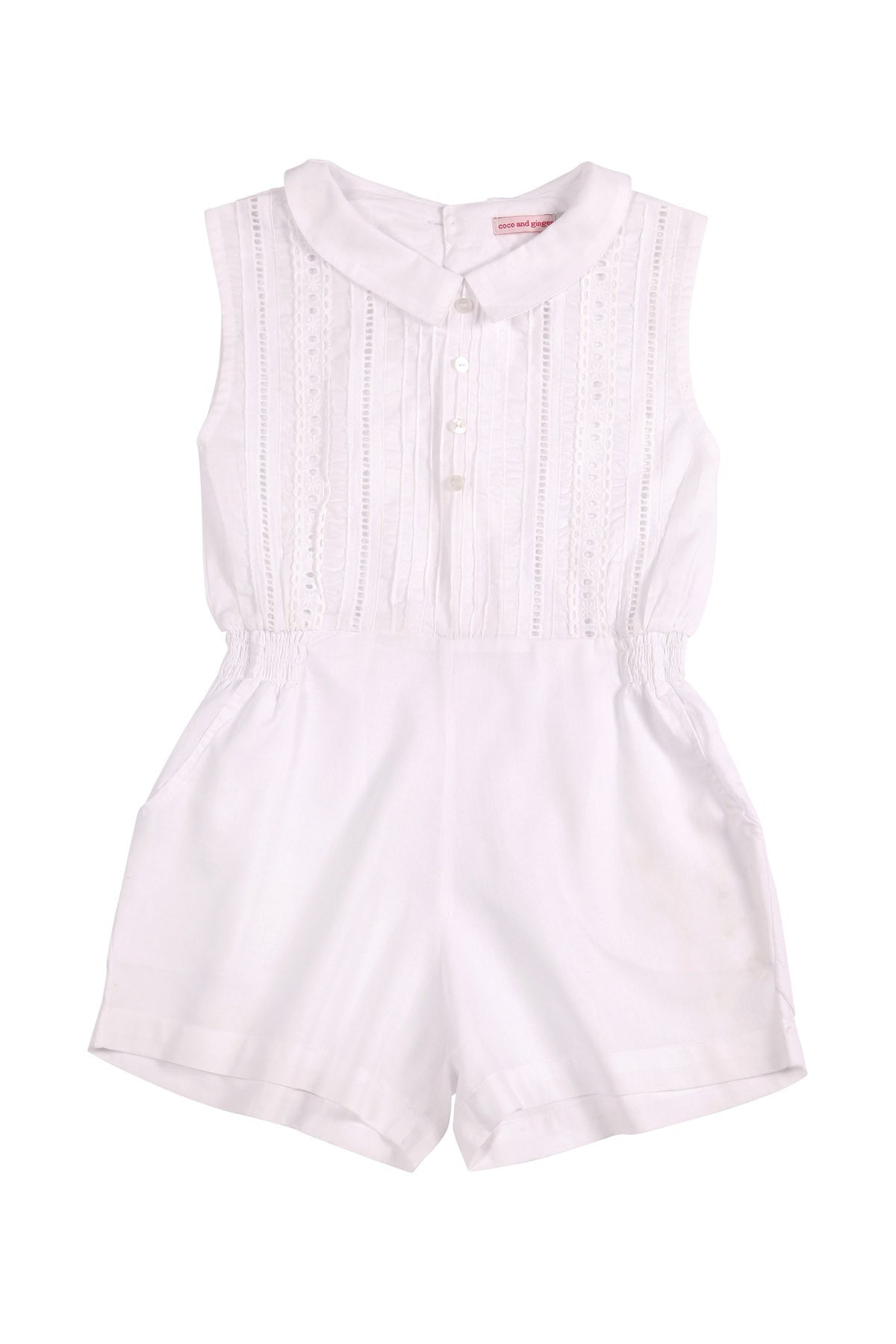 Cinnamon Playsuit White with Lace