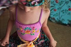 leotard rose with hand stitch