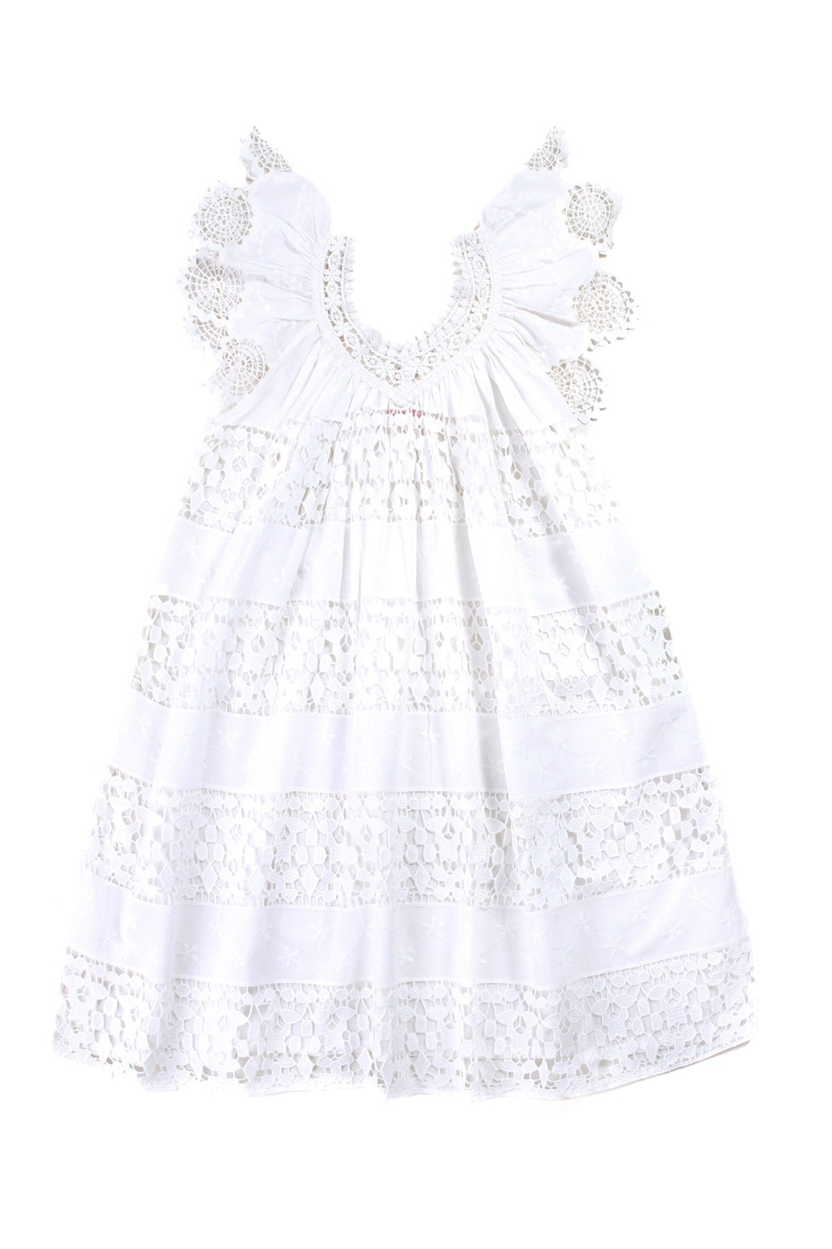 Daphne Dress Set Lace Off White with Slip (Tween/Teen)