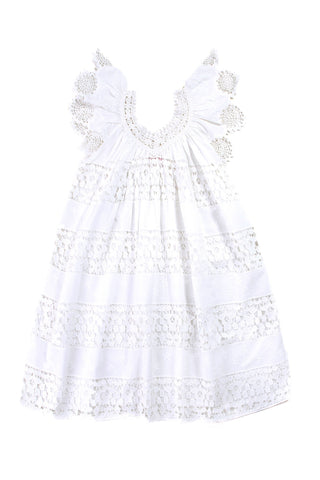 daphne dress set lace off white with slip
