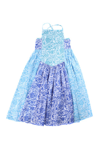 lilac dress summer dance blue patchwork