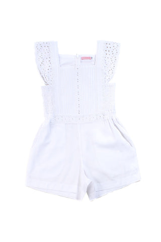 tulip playsuit white with lace, teen