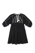 Amelia Dress Black Crinkle and Lace - Mama - Online Exclusive
