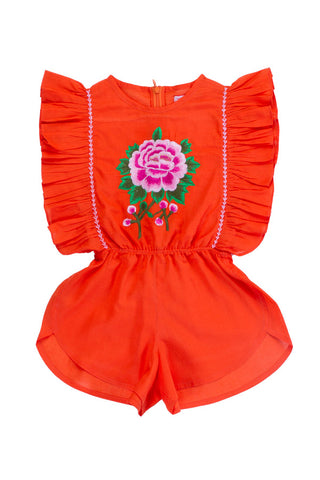 garnett dress cerise with crochet and hand stitch