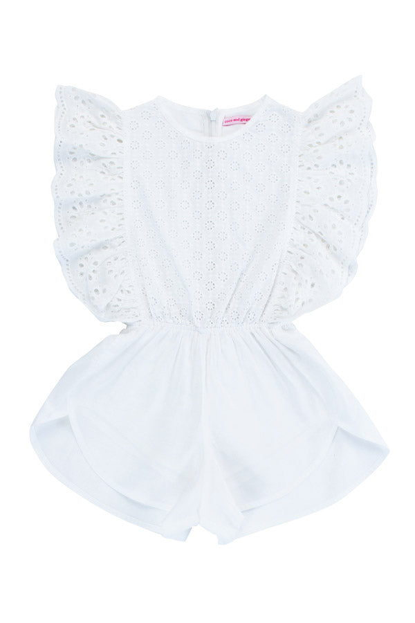 delphine playsuit cutwork and lace