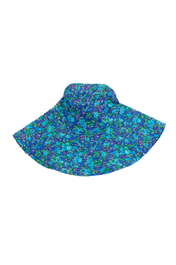 sun hat blue wild flower