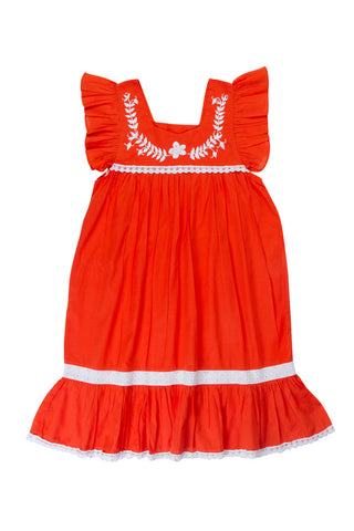 sparrow dress paprika with hand stitch