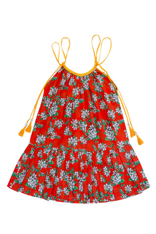 liberty dress paprika almond blossom