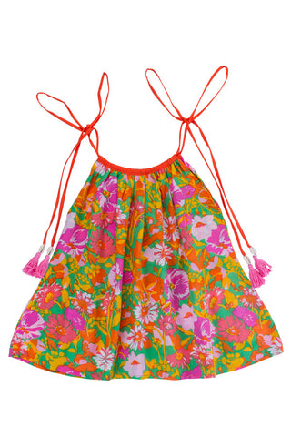 poet playsuit saffron with hand stitch pagoda