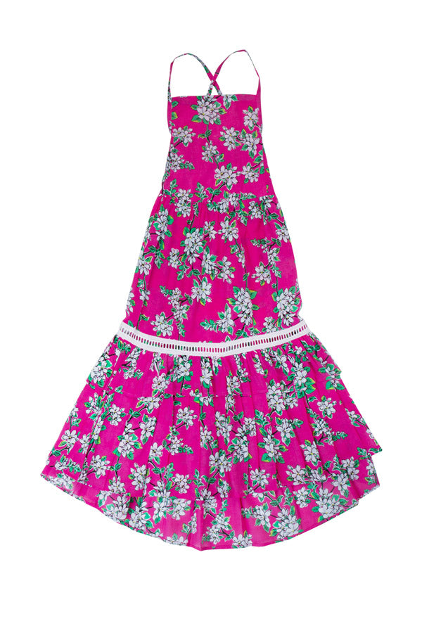 lilac dress cerise almond blossom