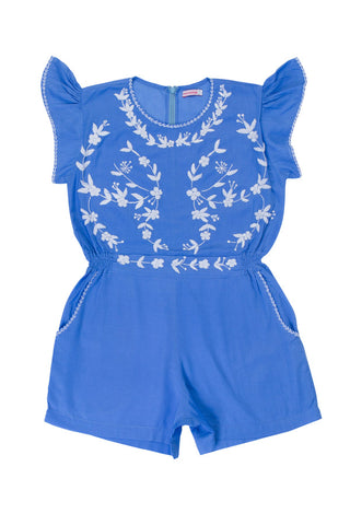 magnolia playsuit periwinkle with hand stitch (teen)