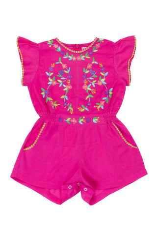 fawn leotard paprika/ cerise with hand stitch