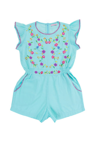 magnolia playsuit sea glass with hand stitch