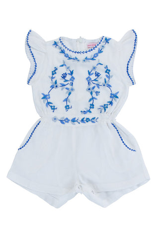 poet playsuit rose with pagoda hand stitch
